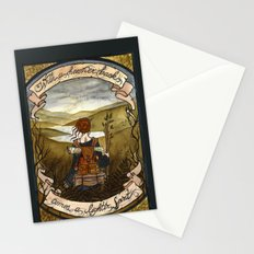 With a heavier back comes a lighter spirit Stationery Cards