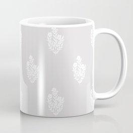 Indian Floral Motif - White Coffee Mug