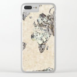Rock Map 4 - Organic World Map Series Clear iPhone Case