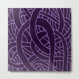 Microcosm in Purple Metal Print