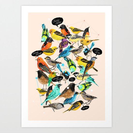 Chirp Chirrup Art Print