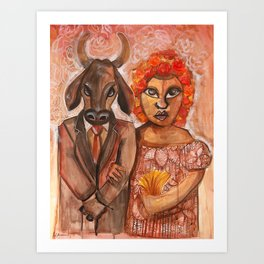 The Marriage of the Bull Art Print