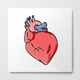 Human Heart Cartoon Metal Print