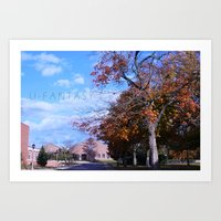 college Art Prints featuring College by Vickyyyy