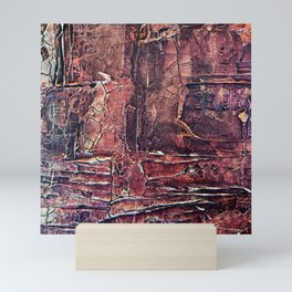 Distressed Work Acrylic Abstract Painting Mini Art Print
