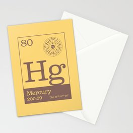 Periodic Elements - 80 Mercury (Hg) Stationery Cards