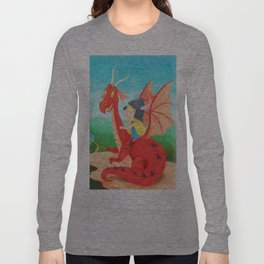 The Girl and The Dragon Long Sleeve T-shirt