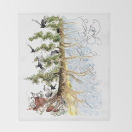 The Woods and The Water Throw Blanket