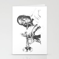 louis armstrong Stationery Cards featuring Louis Armstrong, Satchmo or Pops by 1and9