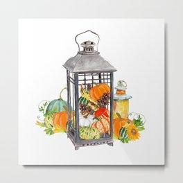Autumn Vignette Metal Print