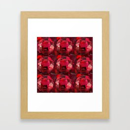 DECORATIVE RED JULY RUBY BIRTHSTONE GEMS Framed Art Print