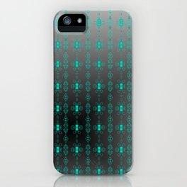 Softly-grey-blue-pattern iPhone Case