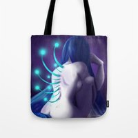 abyss Tote Bags featuring Abyss by Timtimsia