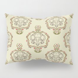 Boreal Owl Skull ~ Light Pillow Sham