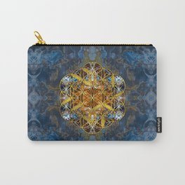 Decorative Gemstone Sacred Geometry Flower of life Carry-All Pouch