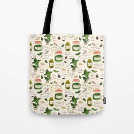 Pesto. Illustrated Recipe. Tote Bag
