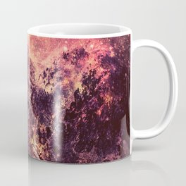 Galaxy Mountains : Mauve Burgundy Coffee Mug