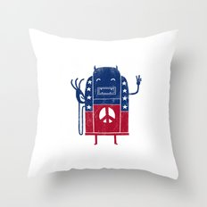 Demon-Crazy Throw Pillow