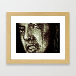 of anger Framed Art Print