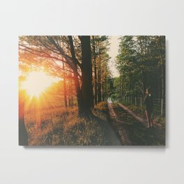 Sunset Road • Appalachian Trail Metal Print