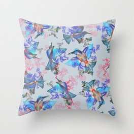 bee eaters pattern Throw Pillow