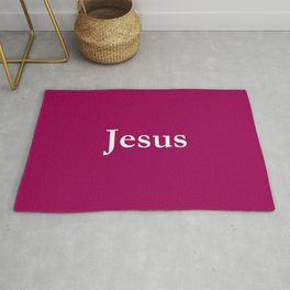 Jesus 7 purple Rug