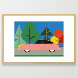 Old School Future Car Framed Art Print