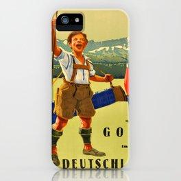 Vintage poster - Golf in Deutschland iPhone Case