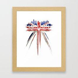 London pride_white Framed Art Print