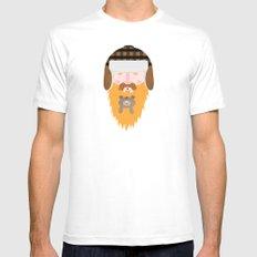 Bear Beard MEDIUM Mens Fitted Tee White