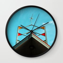 Googie bowling sign Wall Clock