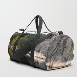Fall Colors Accentuating Cliff Reflections Duffle Bag