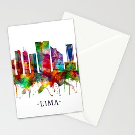 Lima Peru Skyline Stationery Cards