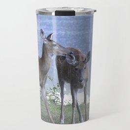 Early Evening Visitors Young Deer -Debra Cortese photo art Travel Mug