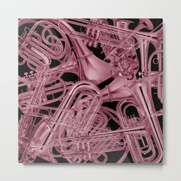 Brass Instruments Rose Metal Print