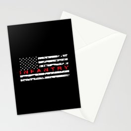 Infantry: Distressed American Flag Stationery Cards