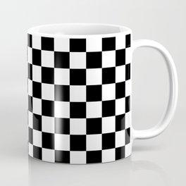 Black Checkerboard Pattern Coffee Mug