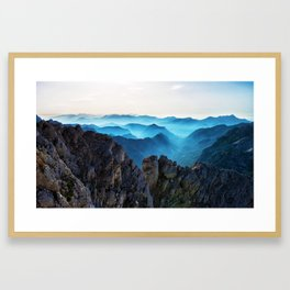 Mountains Breathe Too Framed Art Print