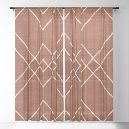 Nudo in Rust Sheer Curtain