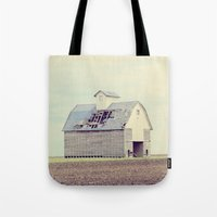 american beauty Tote Bags featuring American Beauty Vol 15 by Farmhouse Chic