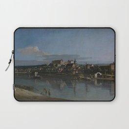Bernardo Bellotto - View of Pirna from the Right Bank of the Elba Laptop Sleeve