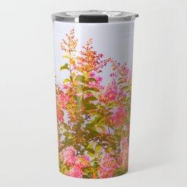 Pink Crepe Myrtle Flowers Travel Mug