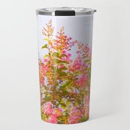 Pink Crepe Myrtle Flowers Travel Mug
