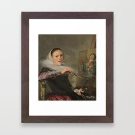 Self-Portrait,  Judith Leyster, 1630 Framed Art Print