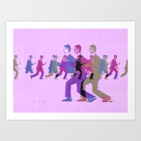 talking heads Art Prints featuring talking heads heads heads by Bad Movies