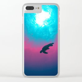 Space Wave Clear iPhone Case