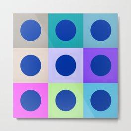 Colorblock Dots Graphic Design Geometric Metal Print