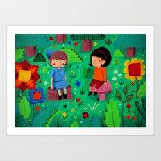 Pixel Garden Art Print