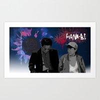 Hana-bi Art Print