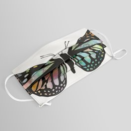 Watercolor Monarch Butterfly Colorful Art Face Mask